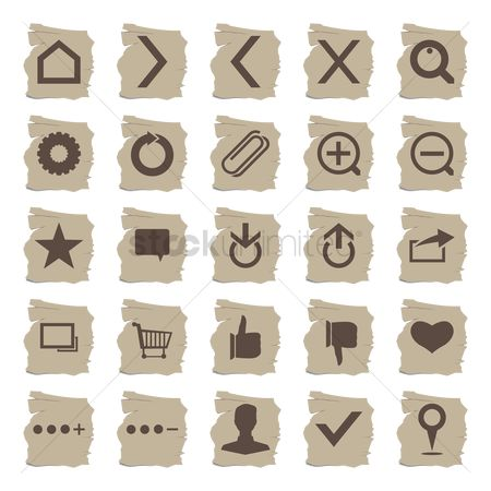 Favourites : Set of web icons