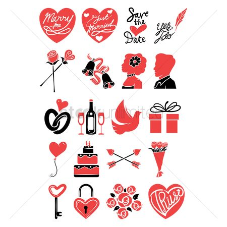 Gifts : Set of wedding icons
