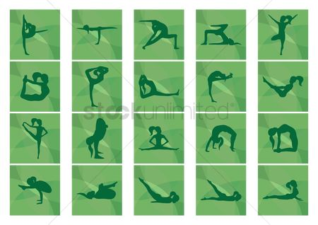 Arm : Set of yoga icons