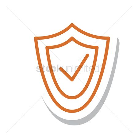 Check mark : Shield with tick icon
