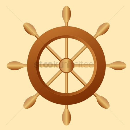 Yachting : Ship steering wheel