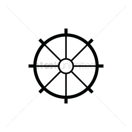 Nautical : Ship steering wheel