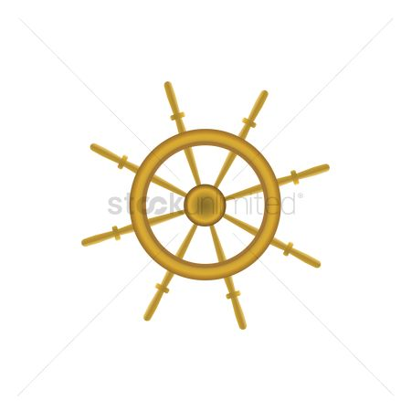Vessel : Ship steering wheel