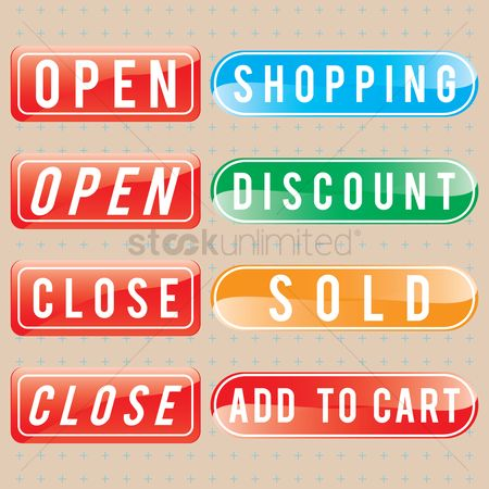 E commerces : Shopping buttons
