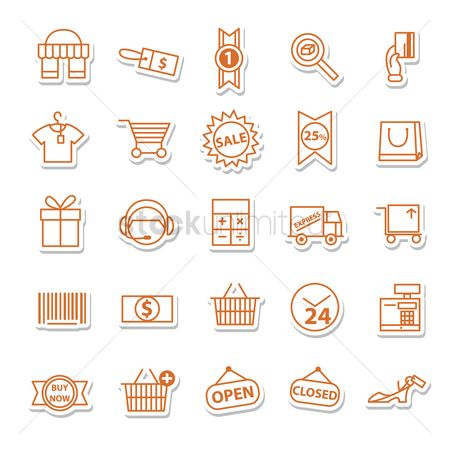 Hours : Shopping icons