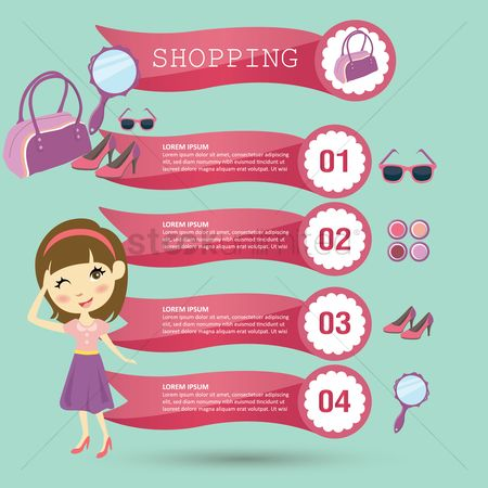 Products : Shopping infographic