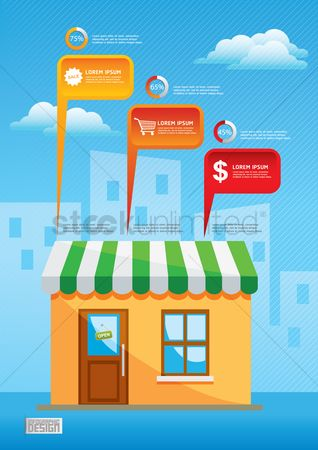 Awning : Shopping infographic