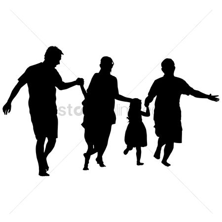 Posing : Silhouette of a family