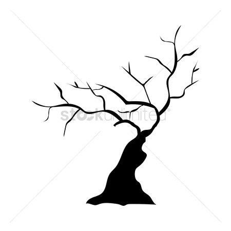 Cutout : Silhouette of bare tree
