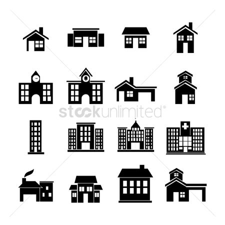 Hospital : Silhouette of buildings