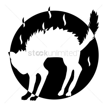 Cutout : Silhouette of cat