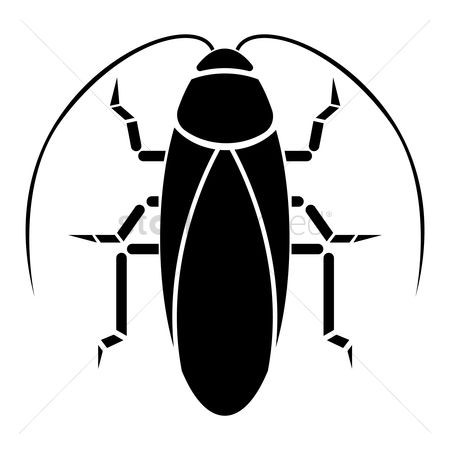 Cutout : Silhouette of cockroach