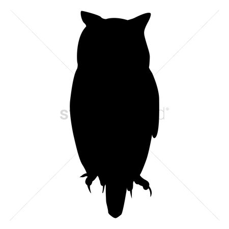 Cutout : Silhouette of owl