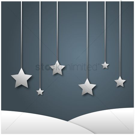 Silver : Silver stars on grey background