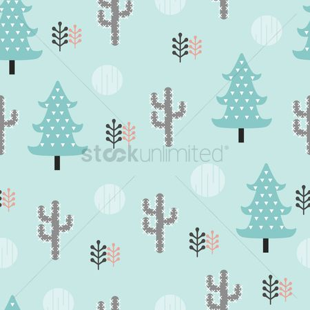 Cactuses : Simple pattern design