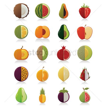 Watermelon : Sliced fruits icons