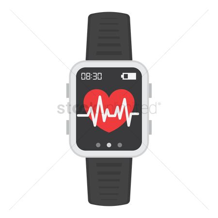 Wristwatch : Smart watch with heart rate