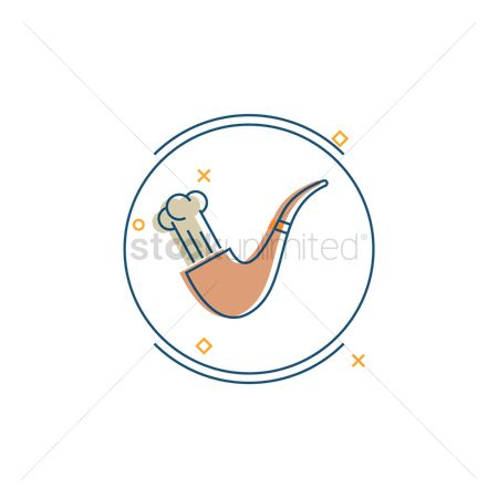 Smoking pipe : Smoke pipe icon