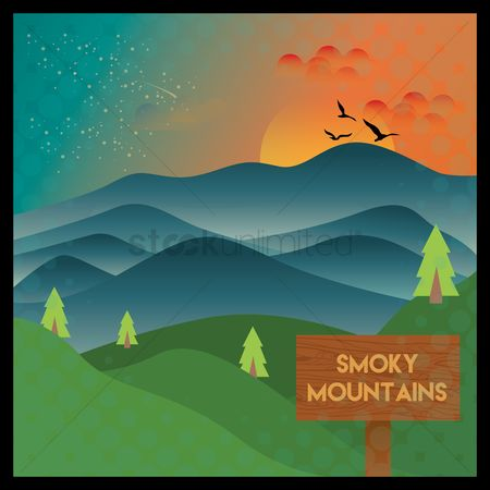 New york : Smoky mountains wallpaper