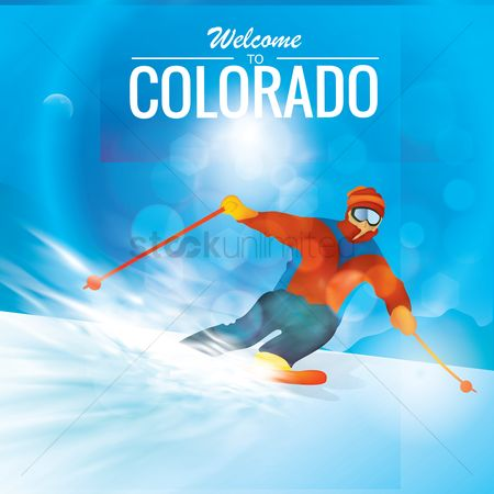 Recreation : Snow skiing in colorado