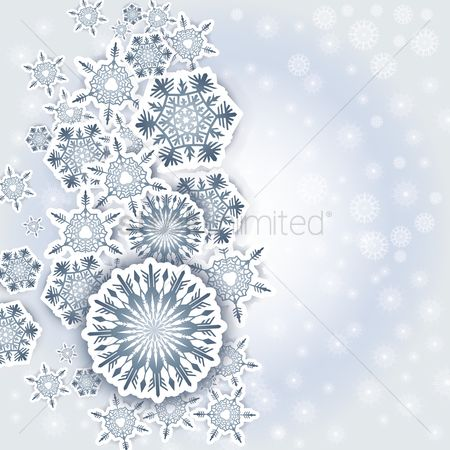 Month : Snowflake background with text space