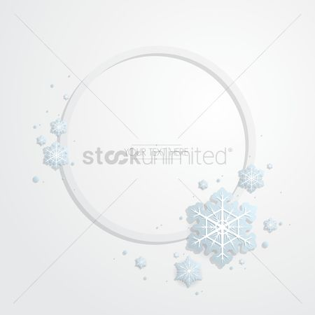 Shine : Snowflake background