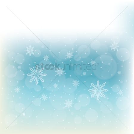 Vectors : Snowflakes background