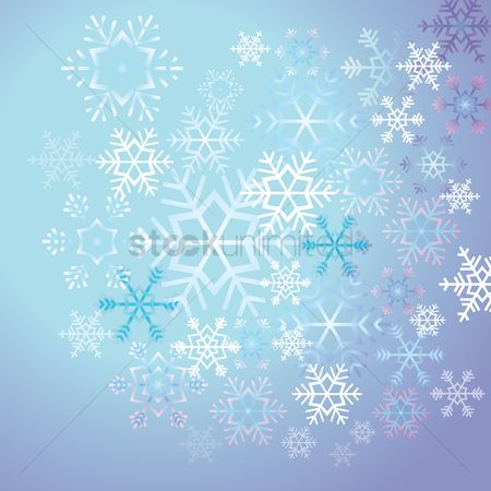 Decorations : Snowflakes background