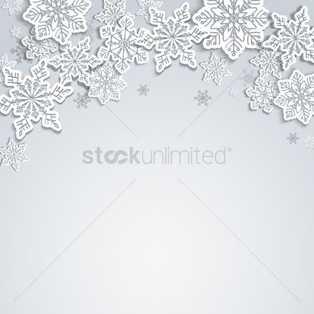 Modern : Snowflakes background
