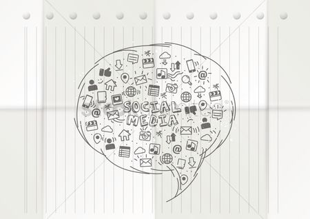 Love speech bubble : Social media concept