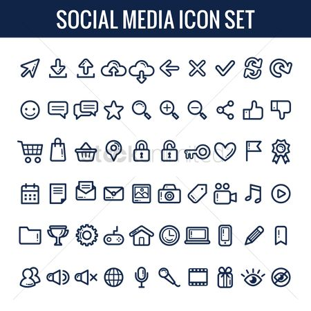 Address : Social media icon set
