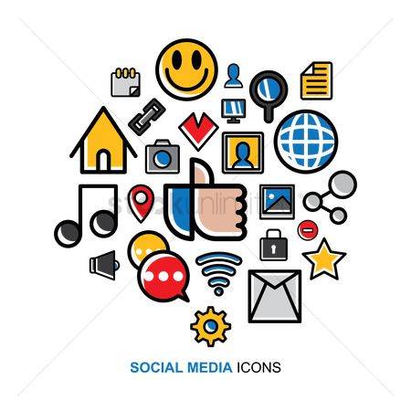 Volume : Social media icons set