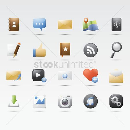 User interface : Social media icons
