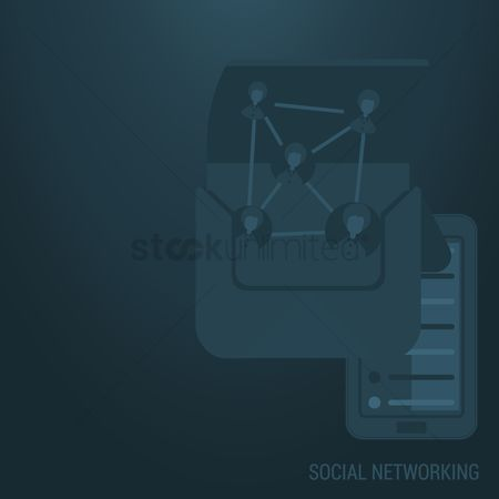Customers : Social networking background