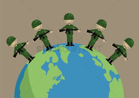 Soldiers : Soldier above the earth