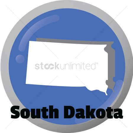 Dakota : South dakota state map