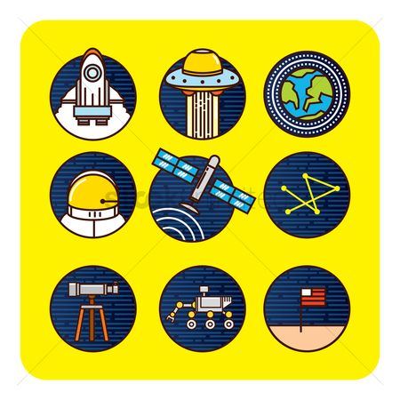 Flag : Space icon set