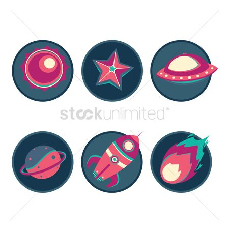 Spaceships : Space icons