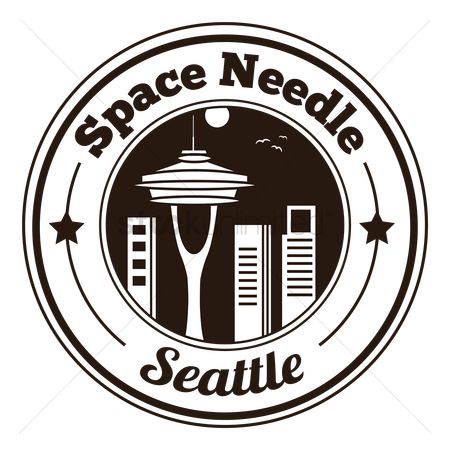 Space needle : Space needle label