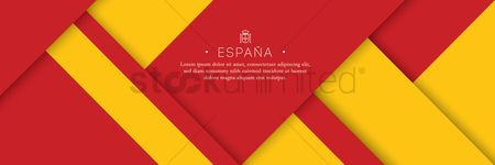 Nationality : Spain flag background