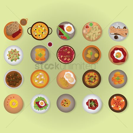 Soup : Spanish cuisine set