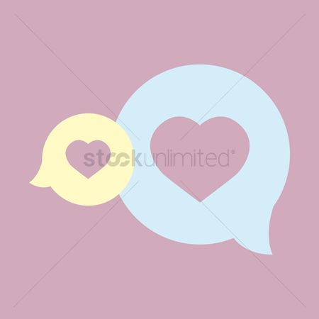 Love speech bubble : Speech bubble with hearts