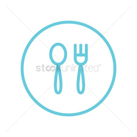 Dinner : Spoon and fork