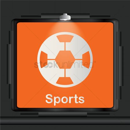Lighting : Sports advertisement board