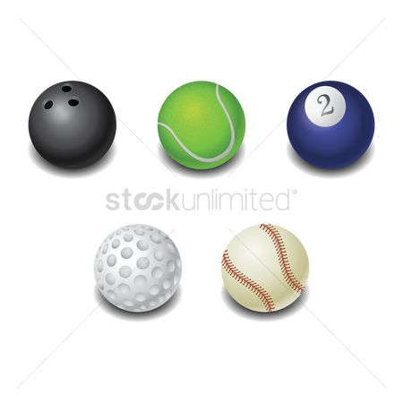 Baseball : Sports ball icons