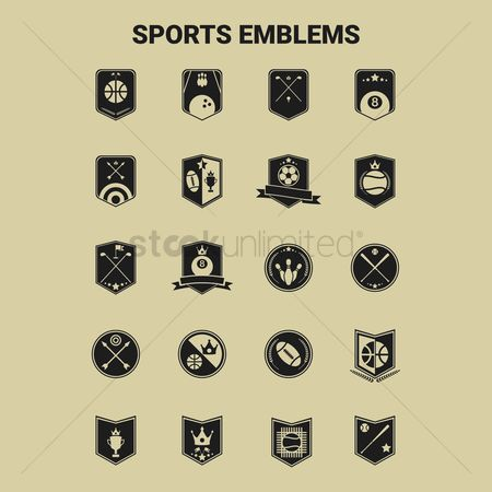 Dartboards : Sports emblem