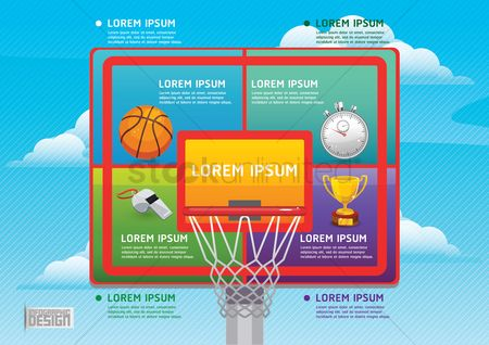 Whistle : Sports infographic