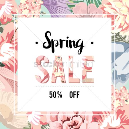 Sale : Spring sale label