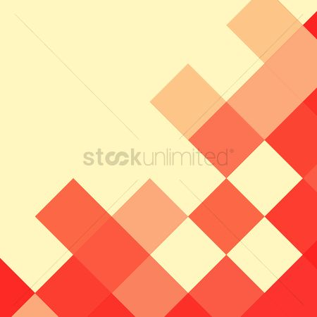 Red : Square patterned background