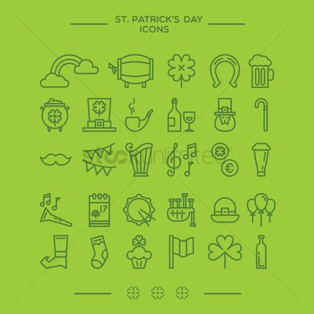 Beer : St  patrick s day icons